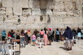 The wailing wall jerusalem israel Royalty Free Stock Photo