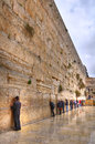 Wailing wall jerusalem israel men praying at the Stock Photography