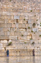 Wailing wall jerusalem israel men praying at the Royalty Free Stock Images