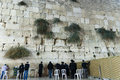 Wailing wall jerusalem israel the most sacred place for jewish believers Royalty Free Stock Photography