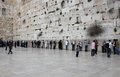 The wailing wall at the old city of Jerusalem Israel Royalty Free Stock Photo