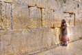 Wailing wall praying jerusalem israel man at the Stock Photo