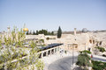 Wailing wall and temple mount holy place of mosques Royalty Free Stock Photo
