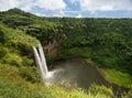 Wailua Falls in Hawaiian island of Kauai