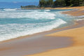 Waimea bay beach landscape in the oahu hawaii Royalty Free Stock Images