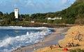 Waimea bay huge shorebreak Royalty Free Stock Photo