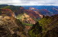 Waimea Canyon viewpoint Royalty Free Stock Photo