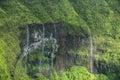 Waimea Canyon Waterfall, Kauai Royalty Free Stock Photo