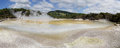 Waiotapu geothermal wonderland new zealand wai o tapu panorama Royalty Free Stock Image