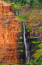 Waipoo falls in Waimea Canyon Stock Photos