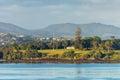Waitangi treaty grounds in Paihia, Northland, New Zealand Royalty Free Stock Photo