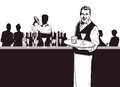 Waiter and Bartender Royalty Free Stock Images