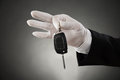 Waiter Hands Holding Car Key Royalty Free Stock Photo