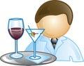 Waiter Icon Royalty Free Stock Photo