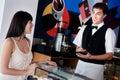Waiter Taking Order Royalty Free Stock Photo