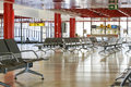 Waiting area at the airport Royalty Free Stock Photo