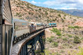 Waiting for cattle on the tracks, Verde Canyon Railroad Royalty Free Stock Photo
