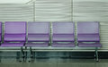 Waiting chairs at the airport Royalty Free Stock Photo