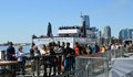 Waiting in Line for The Statue of Liberty Ferry NYC Tom Wurl Royalty Free Stock Photo
