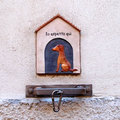 Waiting place dogs area outside shops italy Stock Photos