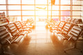 The waiting room at the airport Royalty Free Stock Photo