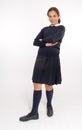 Waiting schoolgirl Royalty Free Stock Images