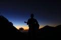 waiting for sunrise Royalty Free Stock Photo