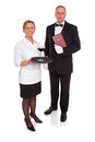 Waitress and Maitre D Royalty Free Stock Image