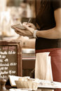 Waitress taking order Stock Photography