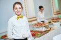 Waitress woman in restaurant Royalty Free Stock Photo