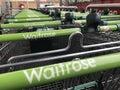 stock image of  Shopping trolley of Waitrose store, London