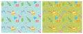 Wakacyjny bezszwowy pattern vector tło Obraz Royalty Free