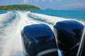 Wake of speed boat Royalty Free Stock Photo