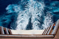 Wake at stern of cruise liner Royalty Free Stock Photo
