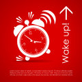 Wake up red vector poster Stock Photos