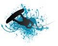 Wakeboarder nell'azione Fotografia Stock
