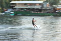 Wakeboarding blur Royalty Free Stock Photo