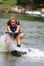 Wakeboarding Girl Royalty Free Stock Photo