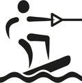 Wakeboarding icon Royalty Free Stock Photo