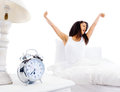 Waking up woman Royalty Free Stock Photo