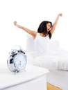 Waking up woman Royalty Free Stock Image