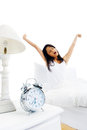 Waking up woman Royalty Free Stock Photography