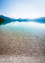 Walchensee near bavarian alps germany Royalty Free Stock Image