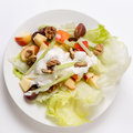 Waldorf salad from above Royalty Free Stock Photo