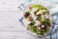 Waldorf Salad with apples, celery and walnuts. horizontal top vi Royalty Free Stock Photo