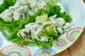 Waldorf Salad Cups Royalty Free Stock Photo