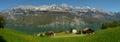WALENSEE ,SWITZERLAND,PANORAMIC VIEW Royalty Free Stock Photo
