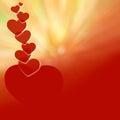Walentynka dnia czerwień background-05 Obraz Stock