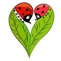 Walentynki karta. romantyczna para Obraz Royalty Free