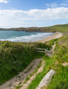 Wales coast path whitesands bay pembrokeshire uk Royalty Free Stock Photos